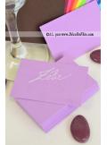 50 Mini Carte lilas