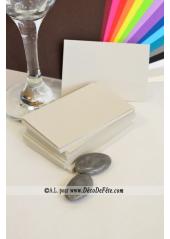 50 Mini Carte gris perle