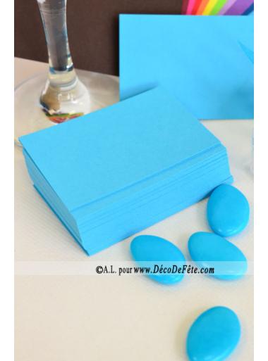 50 Mini Carte turquoise