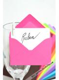 50 Mini Enveloppe fushia