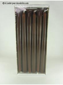 12 Bougies flambeau chocolat