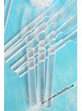 25 Couteaux transparents Givrés