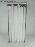 12 Bougies flambeau blanc