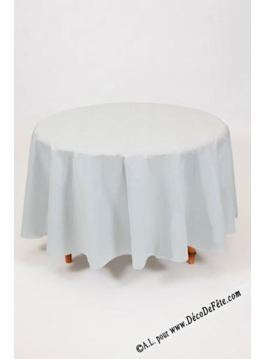 1 nappe presto ronde jetable gris perle. Black Bedroom Furniture Sets. Home Design Ideas