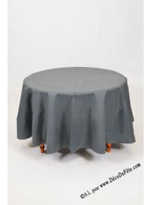 1 Nappe presto ronde jetable gris anthracite