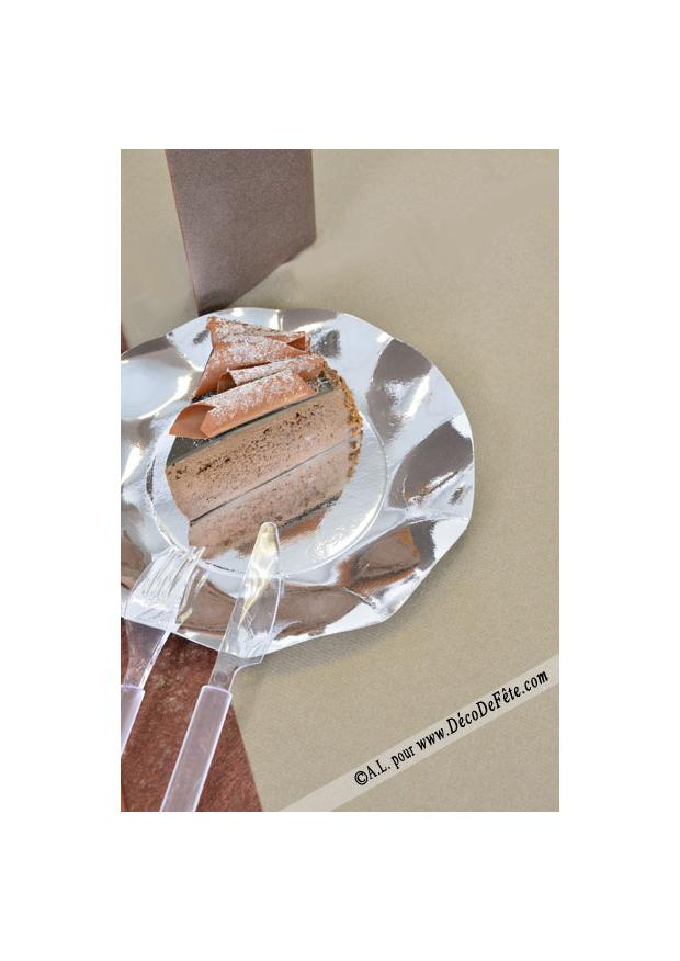 1 nappe presto ronde jetable caramel. Black Bedroom Furniture Sets. Home Design Ideas