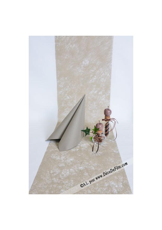 10m chemin de table romance caramel - Chemin de table romance ...