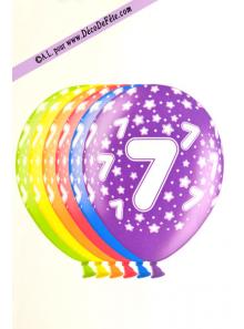 6 BALLONS chiffre 7