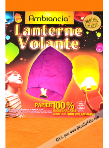 1 lanterne volante orange