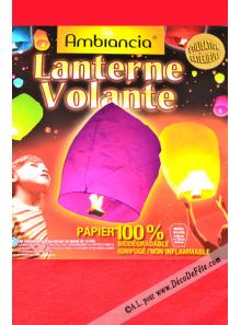 1 lanterne volante rouge