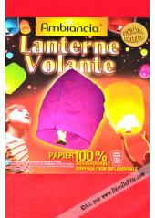 1 lanterne volante rose