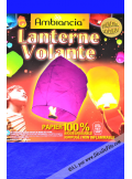 1 lanterne volante bleu nuit