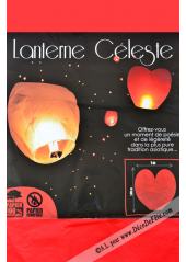 1 lanterne celeste coeur rouge