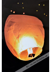 1 lanterne volante blanche