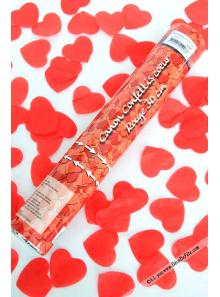 1 Canon à confettis coeur rouge