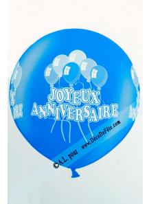 1 ballon géant joyeux anniversaire bleu