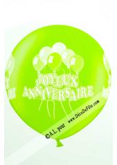 1 ballon géant joyeux anniversaire vert anis