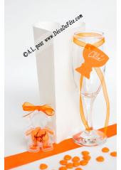 12 Etiquettes calice orange