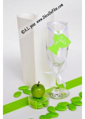 12 Etiquettes calice vert anis