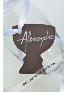 12 Etiquettes calice chocolat
