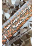 1 canon à confettis rectangle chocolat 30cm