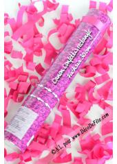 1 canon à confettis rectangle fushia 30cm