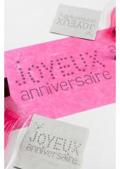 5M Chemin de table JOYEUX anniversaire fushia