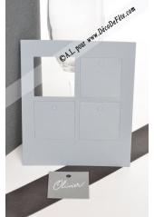 12 Etiquettes carrée gris