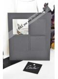 12 Etiquettes carrée noir