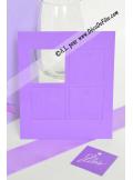 12 Etiquettes carrée parme