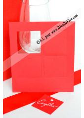 12 Etiquettes carrée rouge