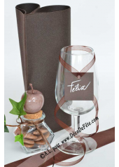 12 Etiquettes carrée chocolat