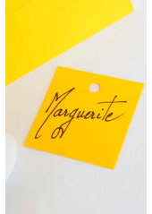 12 Etiquettes carrée jaune