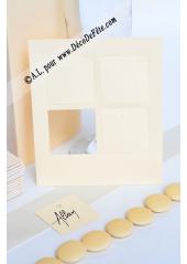 12 Etiquettes carrée ivoire