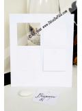12 Etiquettes carrée blanc