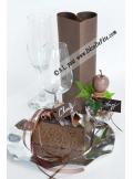 12 Etiquettes rectangle chocolat