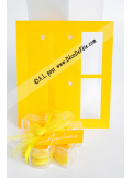 12 Etiquettes rectangle jaune