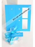 12 Etiquettes rectangle turquoise