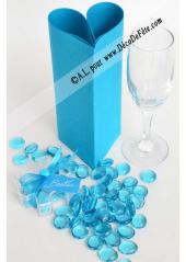 250G Bille de verre cristal bleu