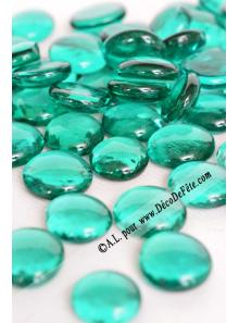 250G Bille de verre cristal turquoise