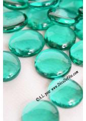 250G Bille de verre cristal bleu lagon