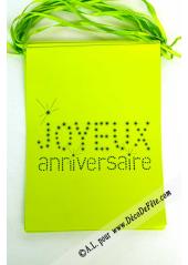 1 guirlande JOYEUX anniversaire vert anis