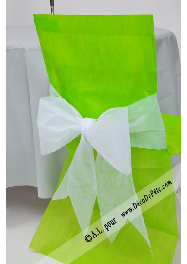 6 housses de chaise vert anis - Housse de chaise vert anis ...