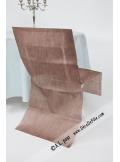 6 Housses de chaise chocolat