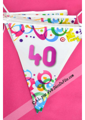 1 guirlande 40 ans