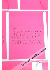 1 guirlande JOYEUX anniversaire fushia