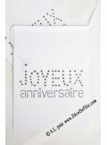 1 guirlande JOYEUX anniversaire blanc