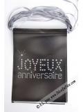 1 guirlande JOYEUX anniversaire noire
