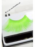 1 paire de faux cils vert