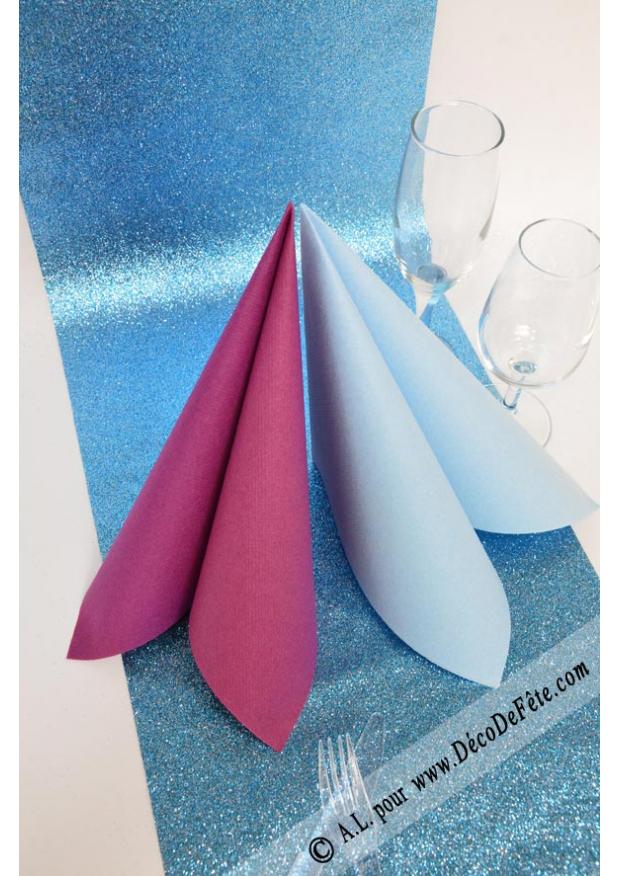 5m chemin de table arc de triomphe turquoise for Chemin de table turquoise